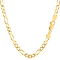 10K Yellow Gold Royal Figaro Chain Bracelet - Width 4.0mm - Length 8 Inch