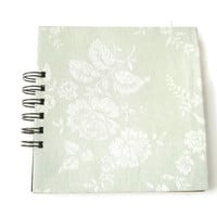 Elegant Note book Stationary jottings journals office school college soft green floral