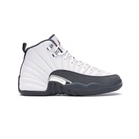 Air Jordan Kid's Retro 12 XII GS White Dark Grey