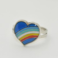 2016 BAND Mood Ring Temperature Emotion Feeling Rings Color Change Rainbow Adjustable Size For Women Christmas Birthday Gifts
