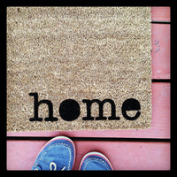 Where You Hang Your Hat Doormat 'home' Natural CoCo Fiber Outside Welcome Mat