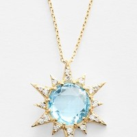 Women's Anzie 'Aztec' Topaz & Diamond Starburst Pendant Necklace