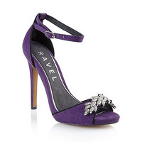 Womens Purple Ravel Purple 'Virginia' ladies stiletto heeled sandals