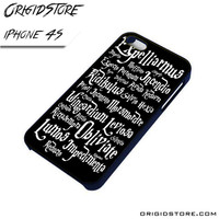 Magic Spells harry potter For iPhone Cases Phone Covers Phone Cases iPhone 4 Case iPhone 4S Case Smartphone Case