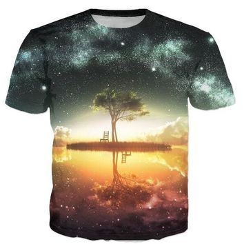 Psychedelic Tree of Life 3d Tee