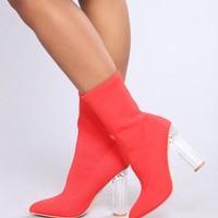 Aleeza Bootie - Red