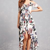 Floral Ruffle High-Low Dress