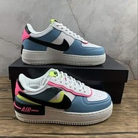 Morechoice Tuhz Nike Air Force 1 Shadow Sunset Pulse Low Sneakers Casual Skaet Shoes Cu8591-101