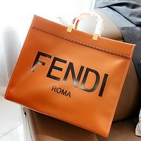 FENDI High Quality Fashion Women Shopping Bag Leather Large Capacity Handbag Tote Satchel Shoulder Bag