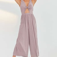 Silence + Noise Tori Twisted Cupro Jumpsuit | Urban Outfitters