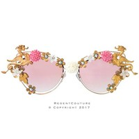The Dragon's Dance Pink Chrome Sunglasses