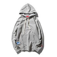 Hot Spring Autumn Boy Male Thin Comfortable Casual Solid Grey Color Men Brand New High Quality Cotton Fit Hip Hop Hoodie Grey