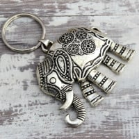 Lucky Elephant Key Chain, Elephant Key Chain, Yoga Accessories, Yoga Meditation ,Namaste, Key Ring, Boho Key Chain, Gifts