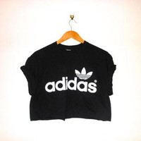 classic original back adidas swag style crop top tshirt fresh boss dope celebrity fest