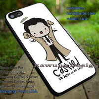 Supernatural Castiel Art iPhone 6s 6 6s+ 5c 5s Cases Samsung Galaxy s5 s6 Edge+ NOTE 5 4 3 #movie #supernatural #superwholock #sherlock #doctorWho dt