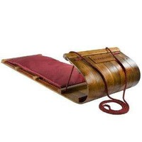 Lucky Bums Heirloom Collection Wooden Toboggan with Pad (48-Inch)