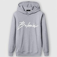 Boys & Men Balmain Casual Edgy Long Sleeve Sweater Hoodie