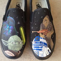 Custom Hand Painted Shoes  Star Wars by RyTee on Etsy