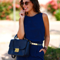 Sleeveless Backless Romper with Pocket