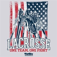 Lacrosse American Flag One Team One Fight