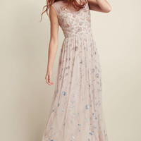 Adrianna Papell Love of Luxe Maxi Dress in Blush