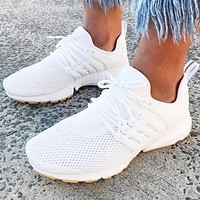 NIKE AIR PRESTO New fashion mesh couple running shoes White