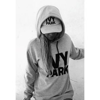 High Quality Beyonce IVY PARK Letter Printed Hooded Hoodies Pullovers Womens Sports Jogging Sweatshirts Femme Harajuku Tracksuit