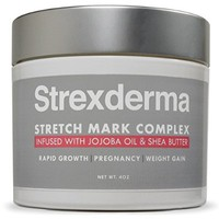 BEST Stretch Mark Cream - 4 OZ Certified Stretch Mark Removal and Scar Cream with Organic Ingredients. Pregnancy Stretch Mark Remover with Proven Results. Also for Men. by Strexderma