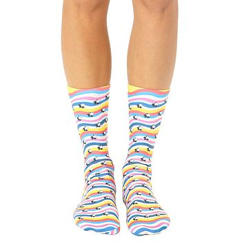 Retro Stars Crew Socks