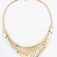 Pointed Cut-Out Collar Necklace