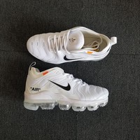 Nike Air VaporMax Plus Tn x Off White White Black Running Shoes - Best Deal Online