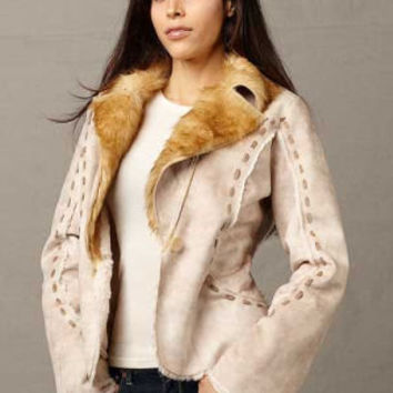Scully Jackets, Womens Faux Fur And Suede Jacket