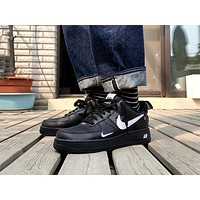 Nike Air Force 1 Low Tide brand low men and women casual sports shoes Black