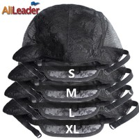 New Selling XL/L/M/S Weaving Hair Net Adjustable Wig Caps For Making Wigs Quality 10 Pcs/Lot Swiss Lace For Wig Making Materials
