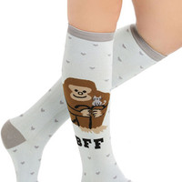 ModCloth Quirky Monkey to My Heart Socks