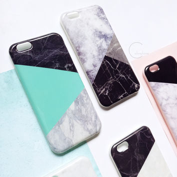 Soft Slim Silicon Granite Marble Texture TPU Back Case Cover for iPhone 6 6s +Nice Gift Box !