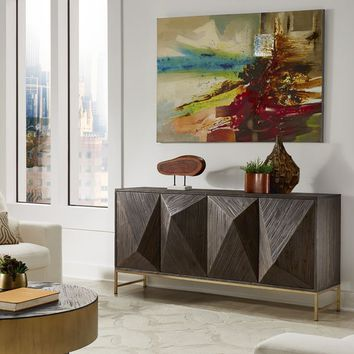 Moffit Antique Gold Finish Reclaimed Wood Buffet by iNSPIRE Q Bold | Overstock.com Shopping - The Best Deals on Buffets