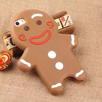 Gingerbread man cookie phone case cover for iphone 5, 5s, 6, 6 plus