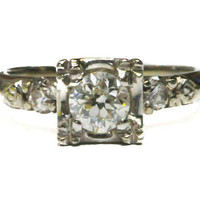 1950's Vintage Retro Diamond Ring by BellmansOnlineStore