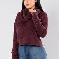 On The Grind Sweater - Eggplant