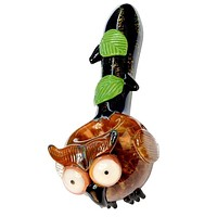 Empire Glass owl Glass pipe