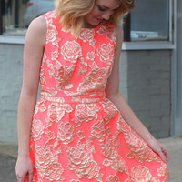 The Showstopper Dress {Neon Coral}