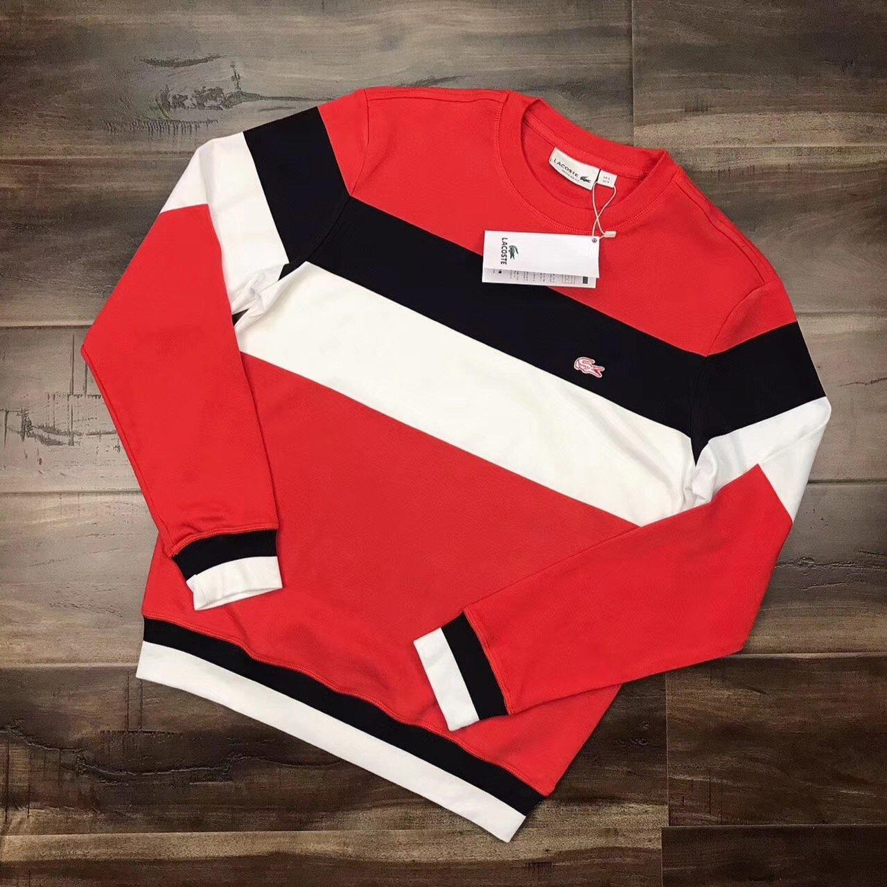 Image of Lacoste Woman Men Fashion Stripe Round Neck  Top Sweater Pullover