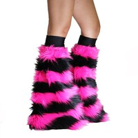 Pixie Stripe Black and Pink Fluffies