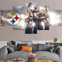 Football Logo Paintings Pittsburgh Steelers Modern Home Decor Living Room Bedroom Wall Art Canvas Print Painting Calligraphy