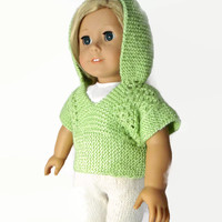 Sweater Leggings Set Doll Outfit Green Beige