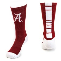 Mojo Alabama Crimson Tide Champ 1/2-Cushion Performance Crew Socks - Men, Size: 10-13 (Red)
