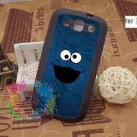 Samsung Galaxy S3 Case Samsung Galaxy S3 Phone Case Samsung Galaxy Cover Hard Plastic or Silicon Rubber Cases - Cookie monster