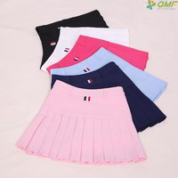 School Uniform Skirts High Waist Girls A-line Mini Tennis Skirt Pleated Running Skirt With Shorts Sports Women Lolita Skirts XXL
