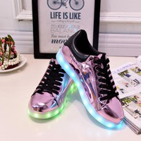 Yeafey Led Light Casual 2017 Women Shoes Basket Chaussure Femme  Light Up Luminous Glowing Shoes Zapatillas Led Mujer Size 35-41